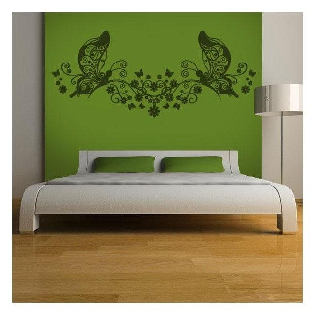 Letto floreale testa vinile decorativo - Testa del letto ...