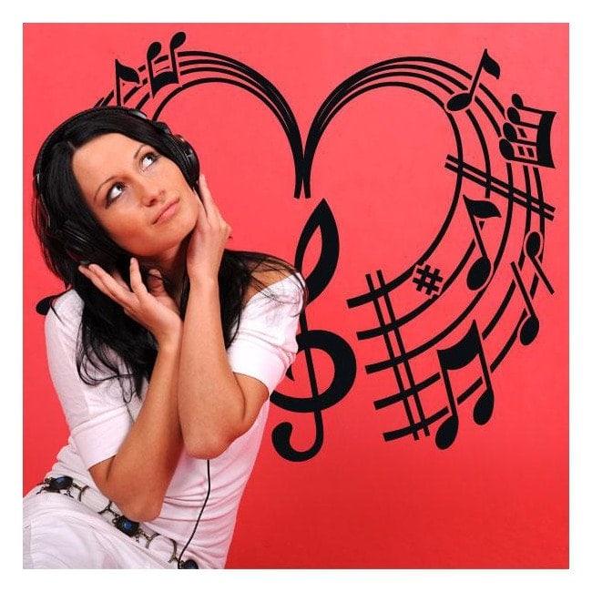 Cuore musicale vinili decorativi