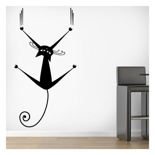 Gatto vinile decorativo sul muro