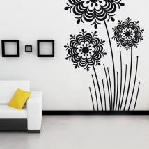 Vinile decorativo fiori Splash
