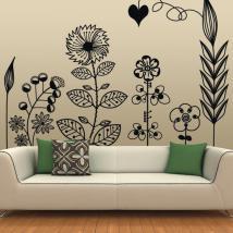 Vinile decorativo arte floreale