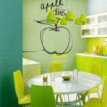 Vinile decorativo Apple dieta Italian 628