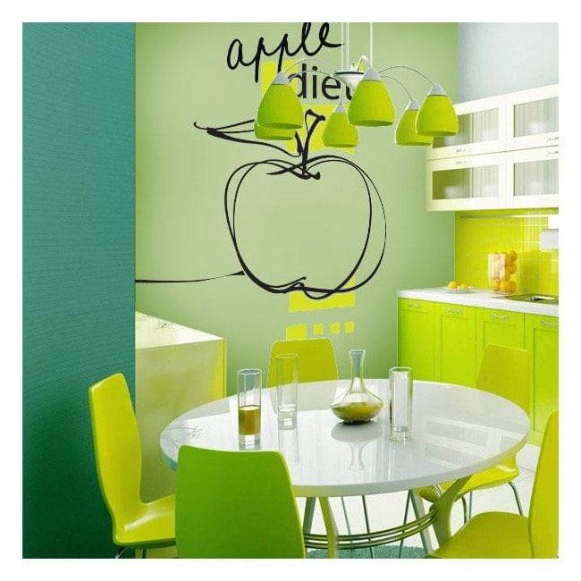 Vinile decorativo Apple dieta Italian 628