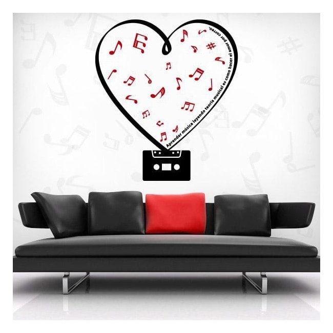 Vinile decorativo romantico cassetta