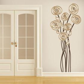 Fascino floreale decorativo del vinile