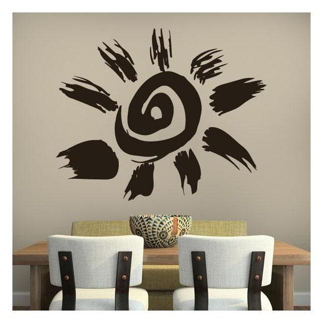 Pannelli luminescente dividendo fluowall Aztec Tribal Sun
