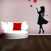 Donne romantiche vinile decorativo