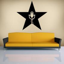 Star musicale vinili decorativi