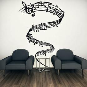 Vinili decorativi Tornado musicale