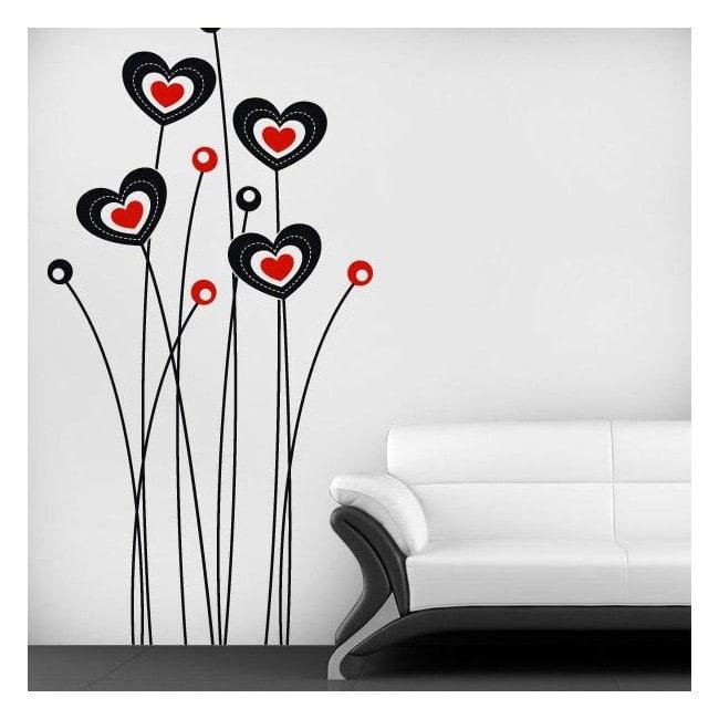 Fiori decorativi vinile del cuore Italian 681
