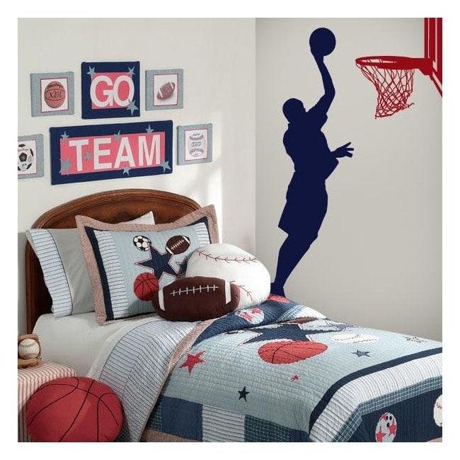 Parete decorativa vinile basket