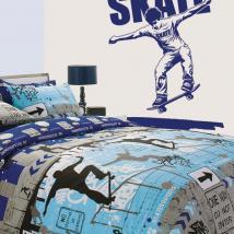 Parete vinile decorativo Skate