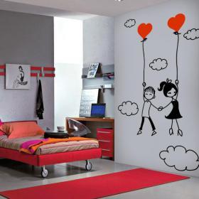 Pannelli luminescente dividendo fluowall romantico amore tra le nuvole