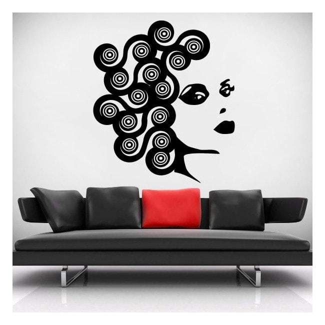 Volto di vinile decorativo muro di donna