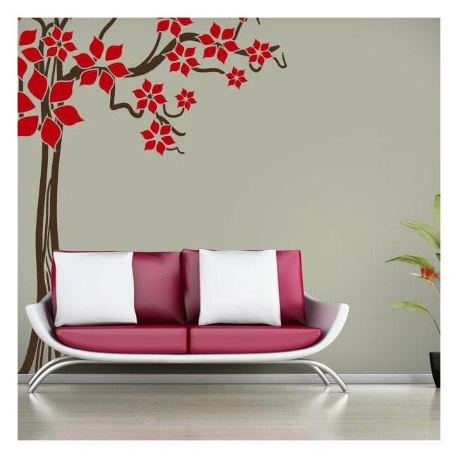 Molla albero floreale vinile decorativo