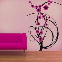 Fiori di colore vinile decorativo