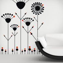 Pareti di vinile decorativo fiori Pop