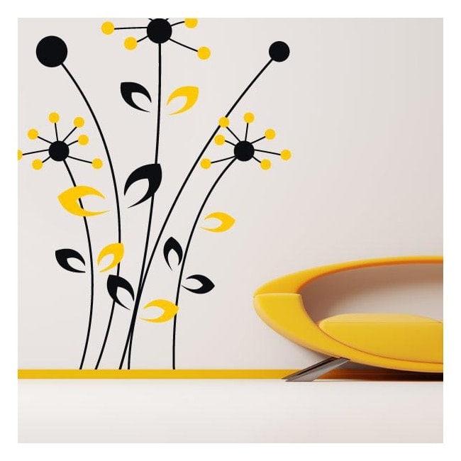 Vinile decorativo muro fiori Bicolor