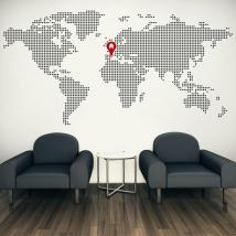 Vinile decorativo mondo mappa home