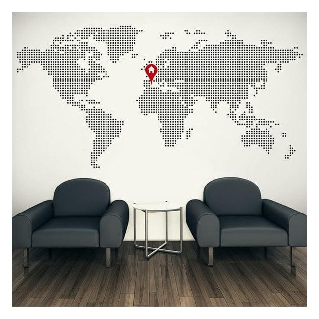 Vinile decorativo mondo mappa home