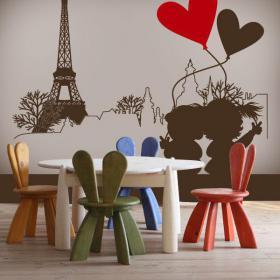 Romantico vinile decorativo Parigi
