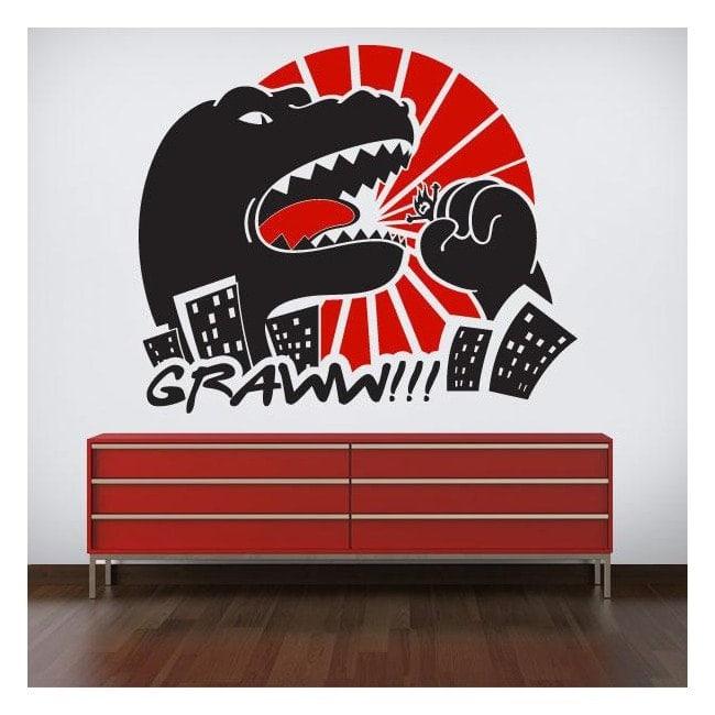Parete vinile decorativo Godzilla