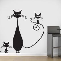 Famiglia di vinile decorativo di gatti Italian 729