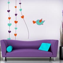 Vinile decorativo pareti romantici cuori