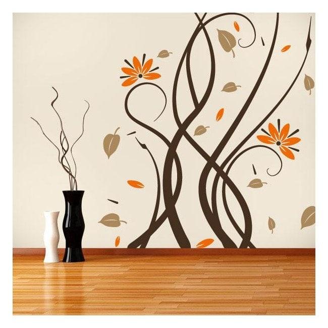 Vinile decorativo pareti fiori Multicolor