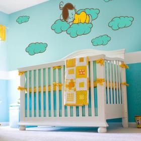 Luminescenti pannelli divisori fluowall dolci sogni dei bambini
