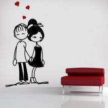 Pannelli luminescente dividendo fluowall romantici amanti