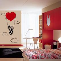 Amore decorativi vinile tra le nuvole