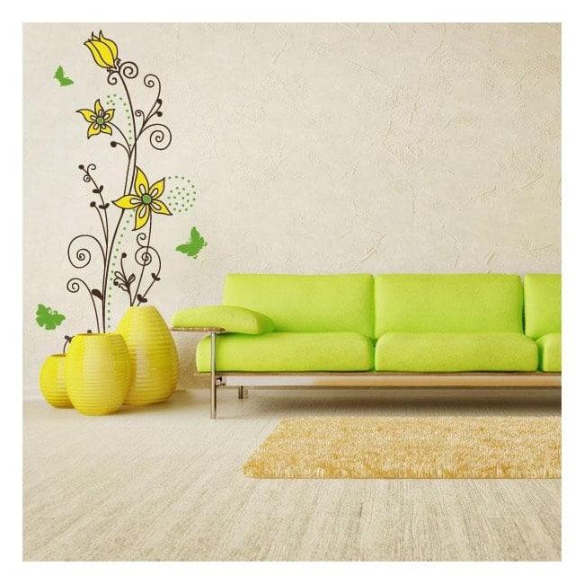 Colore fiori adesivi murali
