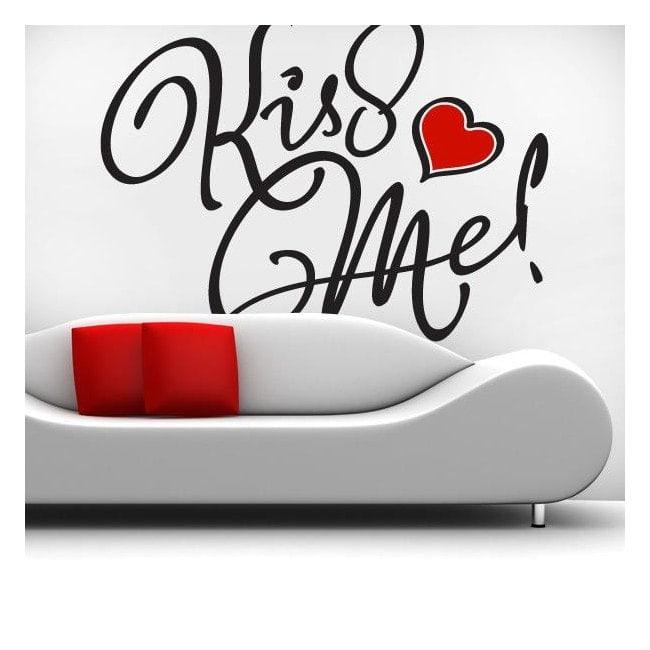 Parete vinile decorativo Kiss Me