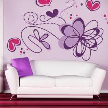 Adesivi murali fiore romantico Italian 770