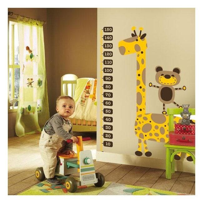 Giraffa vinile bambini metro di altezza