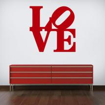 Vinile decorativo amore Robert Indiana