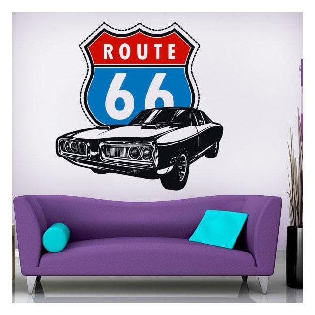 Route 66 di vinile decorativo