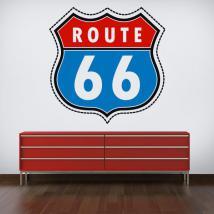Itinerario di vinile adesivo 66