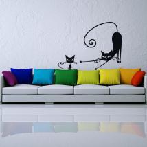 Pareti di vinile adesivi gatti