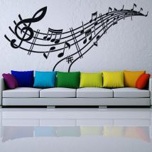 Note e rigo musicale di vinili