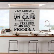 Testi di vinile il caffè del lunedì