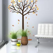 Vinile decorativo albero autunno
