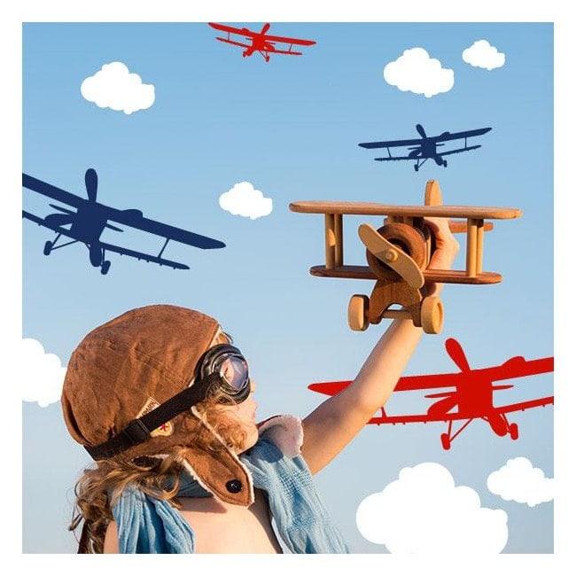 Bambini vinile aerei e nuvole