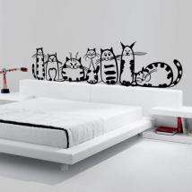 Famiglia di vinile decorativo di gatti Italian 871