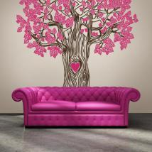 Albero decorativo del vinile dell'amore