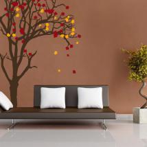Adesivi e vinile albero autunno