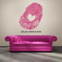 Impronta di vinile decorativo dell'amore