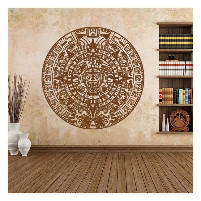 Pietra decorativa del vinile del calendario aztec sun