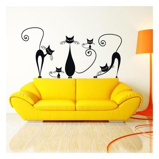 Adesivi e pareti adesive gatti